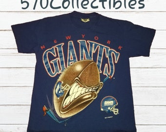 01377b4e9 Vintage Lee Total Cotton New York NY Giants Football Graphic Crewneck  Tshirt Size Medium Made in USA