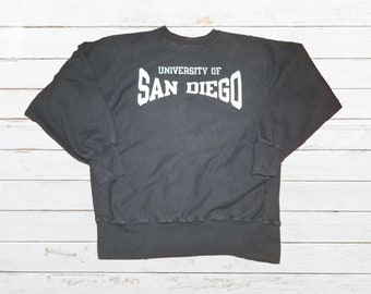 db4b9a47 Vintage Champion Reverse Weave University of San Diego Toreros College  Crewneck Sweatshirt Size XL Made in USA
