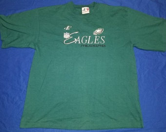 Vintage Logo Athletic Philadelphia Eagles Crewneck Embroidered T-shirt Size  XXL 2XL Made in USA 6bac688ef