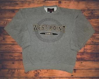 8af5e8b2 Vintage Galt Sand West Point USMA United States Military Academy Graphic Crewneck  Sweatshirt Size Medium
