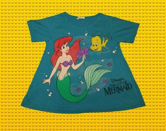 4c83633e0 Vintage 1990s Jog Togs Walt Disney The Little Mermaid Ariel Flounder Graphic  Girls Tshirt Size Youth Small (4) Made in the USA