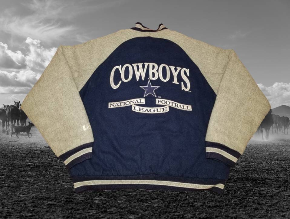 best sneakers 6c38a f5c0b Vintage Logo Athletic Classic Team Collection Dallas Cowboys NFL Varsity  Style Button Front Jacket Coat Size Large