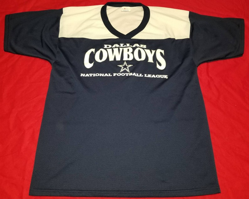 the best attitude 2af37 8be2b Vintage Majestic NFL Dallas Cowboys Jersey Style V-Neck Graphic Shirt Size  Large Made in USA