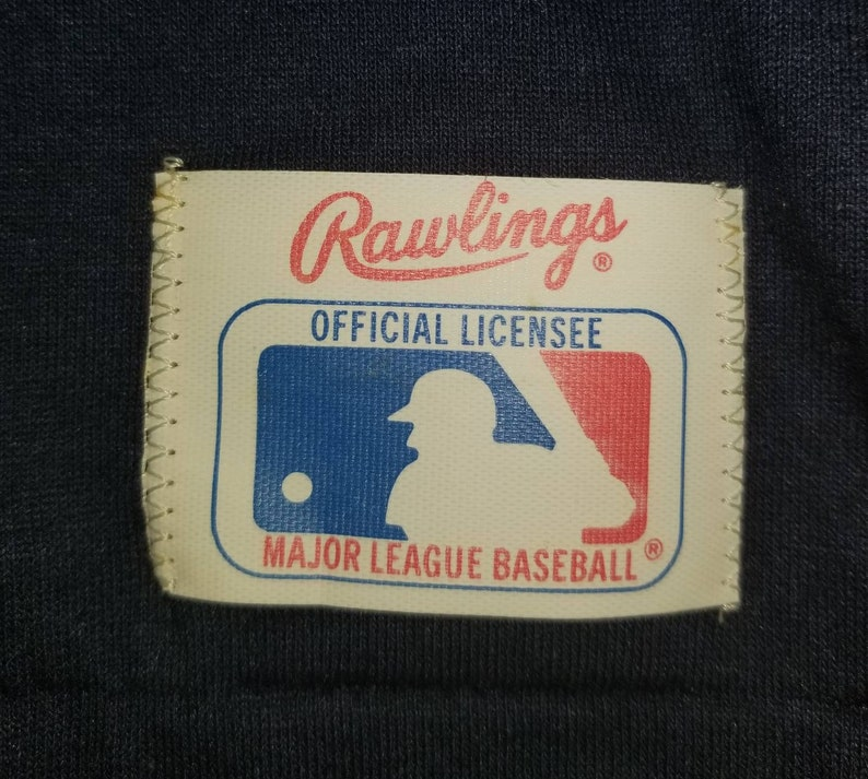 Vintage Rawlings New York Yankees Baseball Pullover Jersey Style Crewneck Graphic Kids Shirt Original Tag Youth Size Small Made in USA