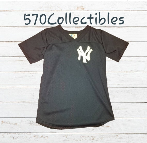 timeless design 9cbde 3cce0 Vintage 1990s Majestic New York Yankees Logo Mesh Baseball Jersey Style  Kids Shirts Size Youth Large Made in USA