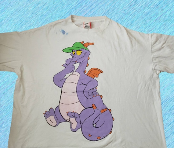 Vintage 1980s Disney Designs Figment Tshirt Epcot Center Dragon Double Sided Graphic Single Stitch Size XXXXL Made in USA