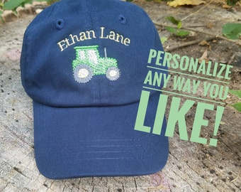 e14f468b264 Custom Tractor Hat with front Personalization