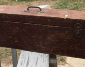 Primitive Handmade Carpenter 39 s Wooden Hand Saw Tool Box Handsaw Storage and Carry Box