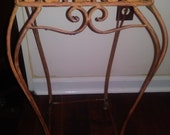 Plant Stand, Cast Iron, Decorative, Vintage, Ivy and Leaves, Reduced 10 Dollars for Immediate Sale