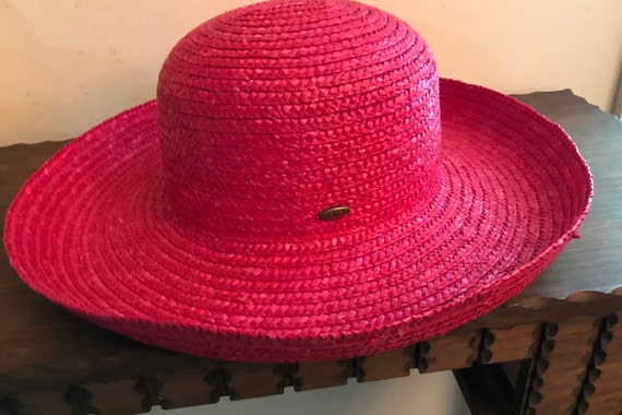 3cb12c9ee Lady Red Straw Hat SCALA -- Red Hat Society