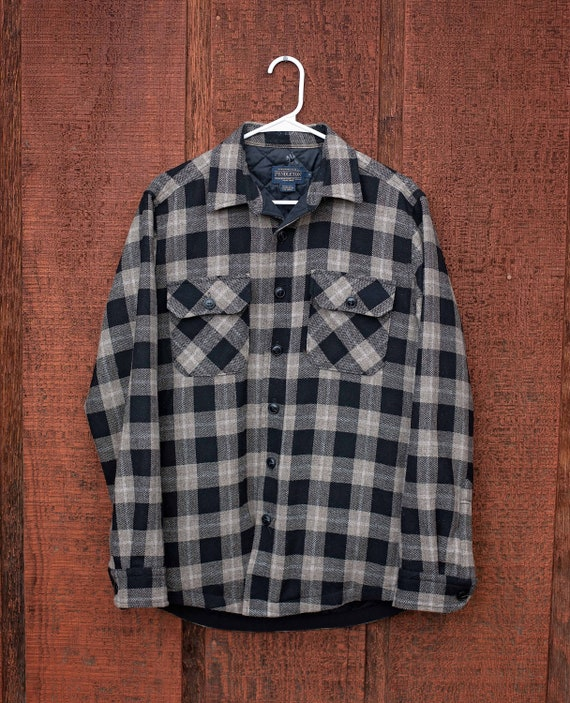 Pendleton Shirt / Pendleton Quilted  Shirt / Black