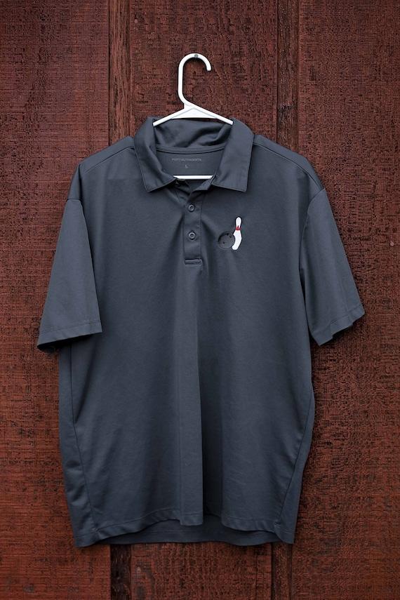 Mens Bowling Shirt, L, Rockabilly Shirt, 1990s, Vi