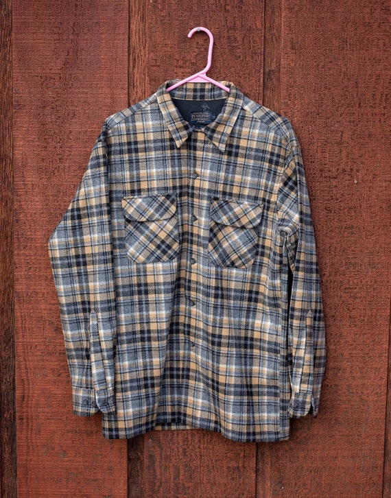 Pendleton Shirt / Pendleton Wool Shirt / Black and