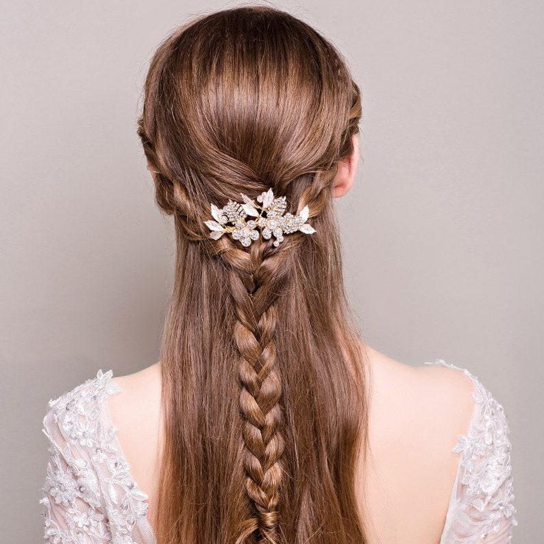 Silver Bridal Hair Accessories Bridesmaids Hair Silver Pearl Haircomb Pearl Haircomb Silver Hair Piece Bride Comb