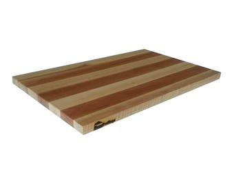"""HomeProShops Wood Butcher Block Cutting Board - 3/4"""" x 12"""" x 19"""" - Solid Maple w Mineral Oil Applied- Reversible"""