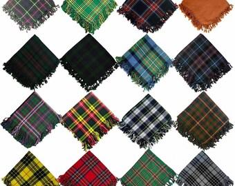 "Men/'s Scottish Kilt Fly Plaid Tartan 48/"" X 48/"" Acrylic Wool Shawl Wear 18 Tartan"
