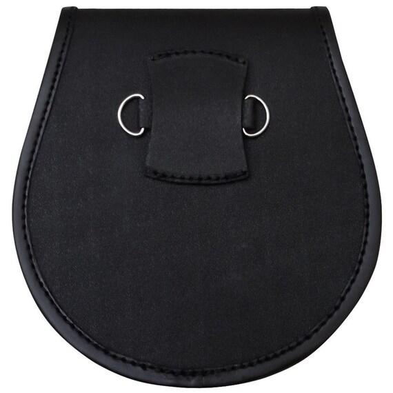 Ajustable Leather /& Chrome Sporran Kilt Sporran Cadena De Cuero Cadenas