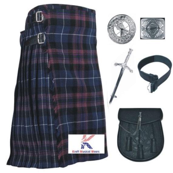Celtic Sporran Chain+Belt+Buckle+Pin Kilt Scottish Pride of Scotland Tartan Men/'s Kilt Traditional Highland