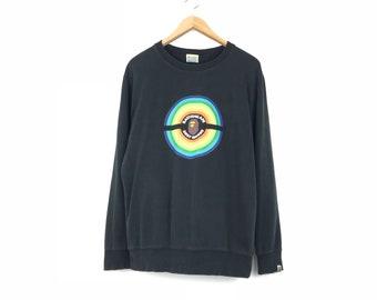b057b0fa Bathing Ape BAPE Busy Works Rainbow Big Logo Pullover Sweatshirt Jumper