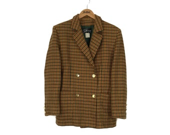 Rare!! Genny DUE Made In Italy Full Button Vintage Wool Blazer Coat Jacket
