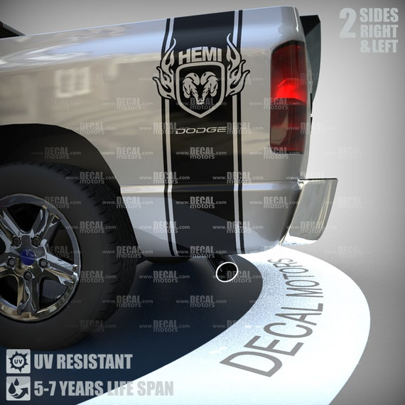 CUSTOM Truck Bed DECALS truck Racing Car auto Decal 4x4 stickers SET TWO