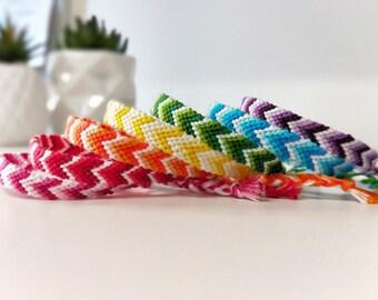 Colourful Chevron Gradient Ombre Friendship Bracelet / Anklet