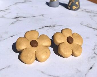 Flower Polymer Clay Stud Earrings