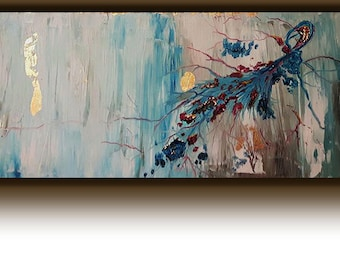 Feather, Original oil painting on canvas
