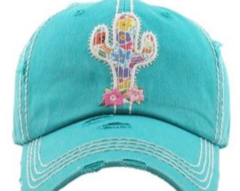 309233289a4bb3 Cactus Baseball Cap, Succulent, Trucker Hat