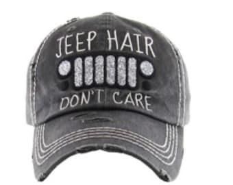Jeep Hair Don t Care Baseball Hat dde1ddbf1fd