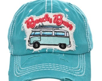 855e91f5636da2 Turquoise Beach Bum Bum Baseball Cap