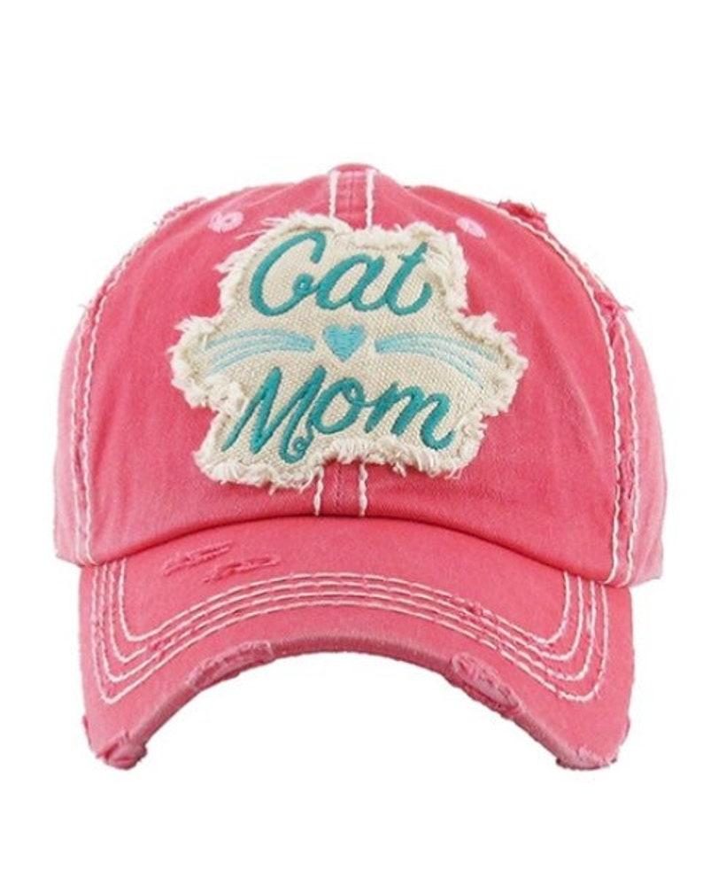 e3bfee8ca91 Cat Mom Baseball Hat for Women Cat Lover Gift