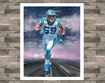 a79fc85b7 Road Luke Kuechly oil painting