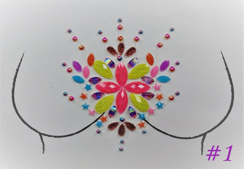 Rave Body Jewels Jewel Stickers