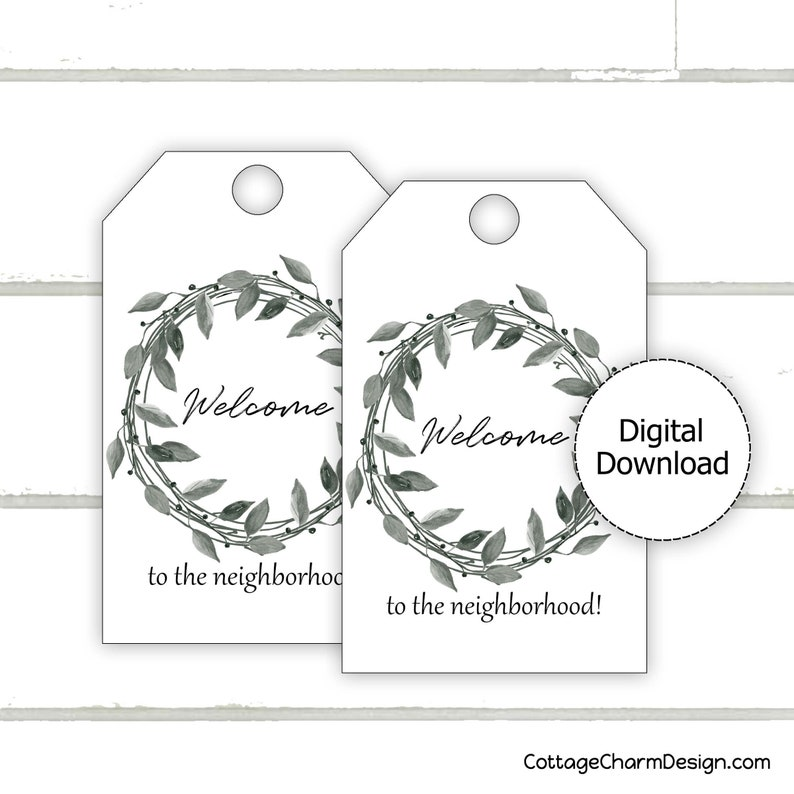 picture regarding Welcome to the Neighborhood Printable named Welcome towards the Area Reward Tag Printable