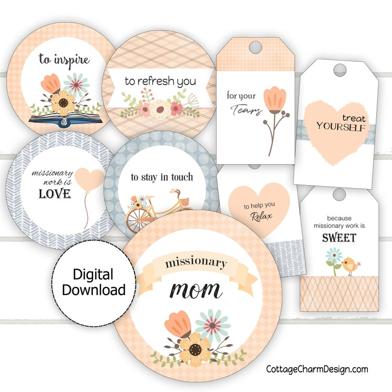 Missionary Mom Survival Kit Printable Missionary Mom Gift Printable Instant Download
