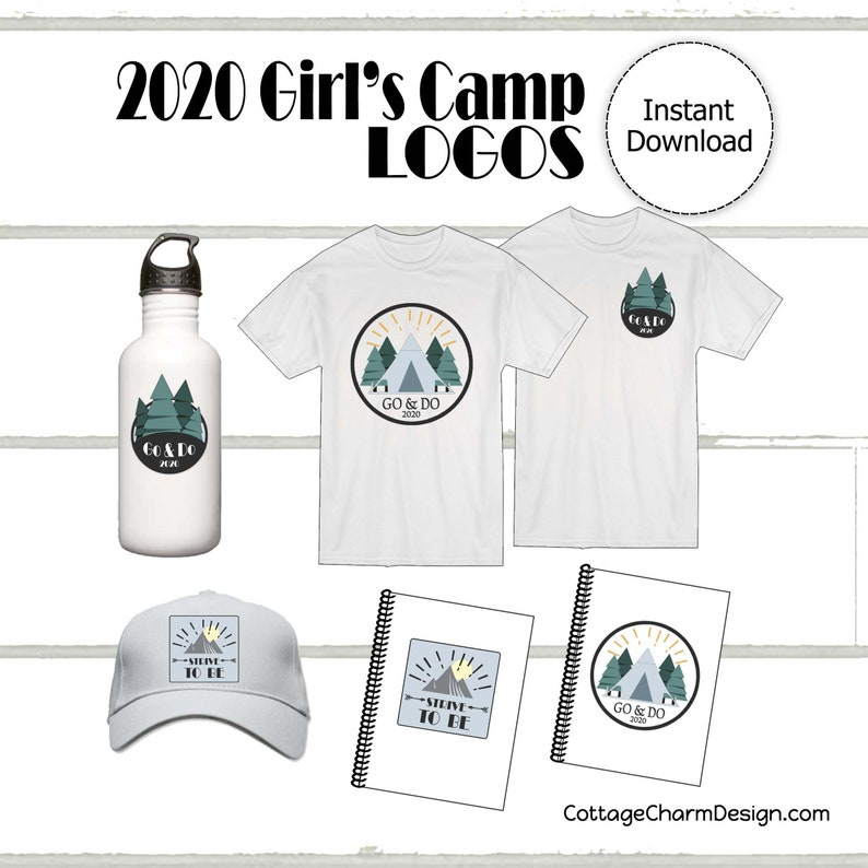 Girls Camp LOGO Go and Do/Strive to Be LDS Girls Camp | Etsy