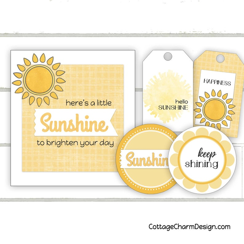image about Basket of Sunshine Printable identify Sun towards Brighten Your Working day Reward Label and Tag Printable, Box of Solar Printable