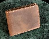 Bifold Wallet, Handmade leather wallet Leather, Personalized Wallet, Man Wallet, minimalist wallet, Groomsmen Gift- Cinnamon TEXAS005