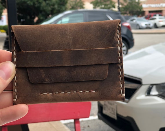 Leather Wallet, Distressed Personalized Wallet, Man Wallet, Card Holder, Coin Purse Wallet, Cowhide ID: TEXAS001