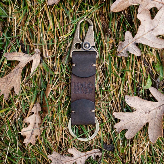 Personalized Leather Keychain, Custom Engraved Key Chain Gifts For Men and Birthday, Monogram Key Fob Gift