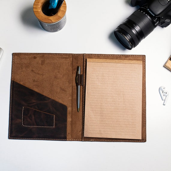 Leather Notebook Cover, Minimal Notebook Cover, Leather Notebook, Traveler's Leather Notebook Case, Leather Notebook Case