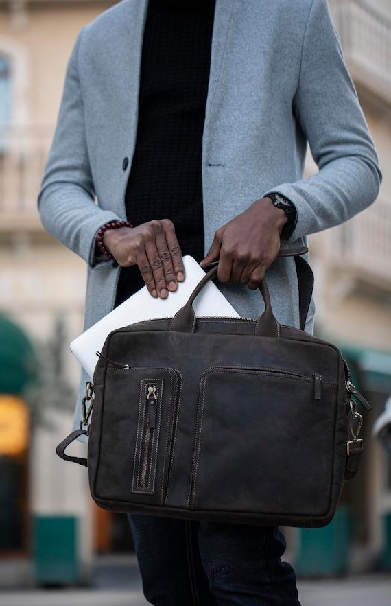 Leather Briefcase Chestnut Leather Briefcase Men Leather Briefcase Laptop Bag Leather bag Gift for Him Shoulder Bag Men Briefcase