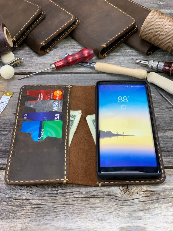 Samsung Galaxy Note8 Leather Wallet Case, Galaxy Note8 case,  Leather Case for Samsung Note8 - IDTEXAS- Note8