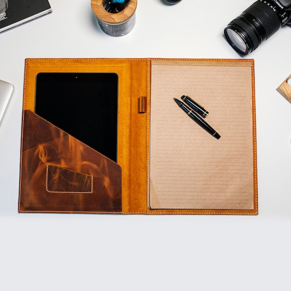 Personalized Leather Journal Case, Luxury Leather Notebook Case