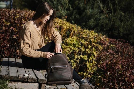 Leather Backpack, Leather Backpack, Leather Laptop Bag, Leather Rucksack, Unisex Backpack, Leather Tote Bag, Women bag, leather bag
