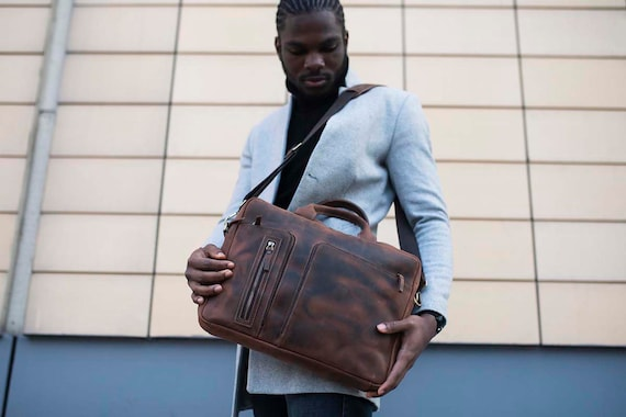 Leather Briefcase Cinnamon Leather Briefcase Men Leather Briefcase Laptop Bag Leather bag Gift for Him Shoulder Bag Men Briefcase