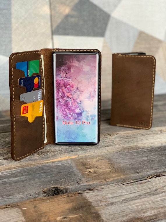 Samsung Galaxy Note 10 Case, Leather Wallet Case, Handmade Note 10 case, Note 10 leather case, leather Note 10,  - IDTEXAS- Note10
