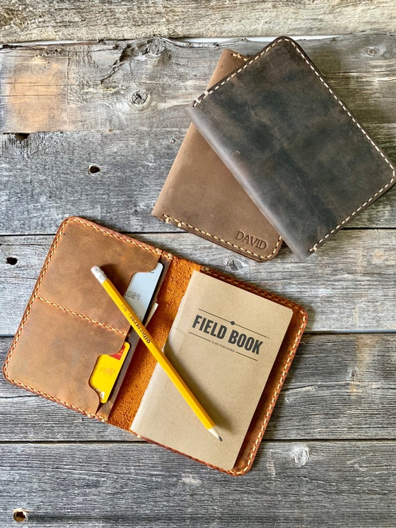 Leather Field Notes Cover, Personalized Field Notes Cover, Groomsmen Gift, Gifts for Men, Gifts for Dad #TEXAS0025