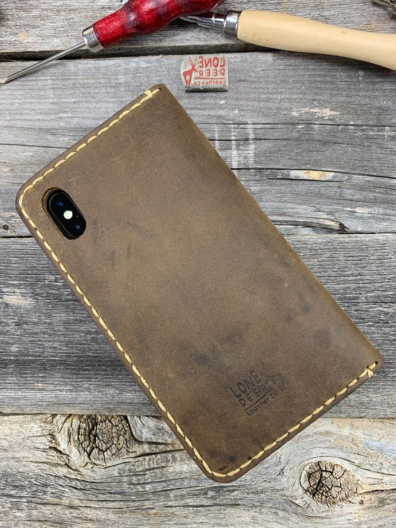 iPhone Xr Case, iPhone Xr Leather Wallet Case, PERSONALIZED Leather Cover Case - TEXAS010